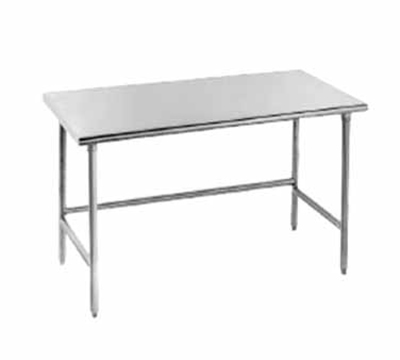 "Advance Tabco TSAG-2410 120"" Work Table - Bullet Feet, 24"" W, 16-ga 430-Stainless"