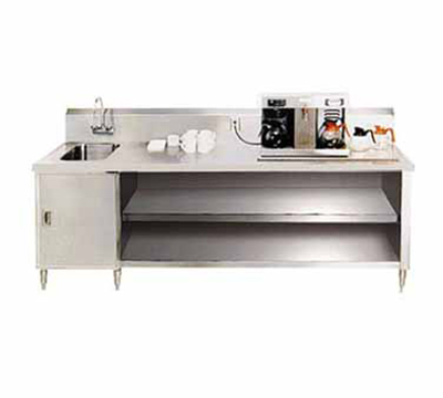 "Advance Tabco BEV-30-60L 60"" Beverage Table - Left Side Sink, Faucet, 14-ga 304-Stainless"