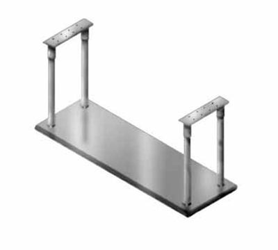 "Advance Tabco CM-18-36 Ceiling Mount Shelf - Single Deck, 5-lb Capacity, 18x36"", Stainless"