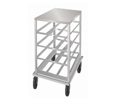 Advance Tabco CRSS10-54 Low Profile Mobile Can Rack for #10, #5 - 54-Can Capacity, Stainless Top, Aluminum