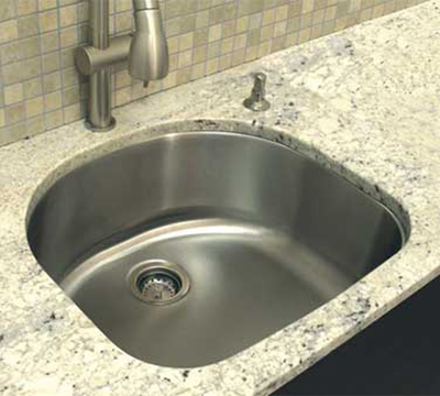 "Advance Tabco CV-2421-RE Under Mount Contoured Sink - 21.5x19x9"" Bowl, 16-ga 304-Stainless"