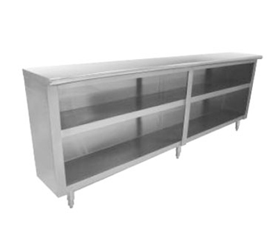 Advance Tabco DC-1812 Chefs Table Dish Cabinet - Open Base, Midshelf, 144x18x3