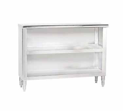 "Advance Tabco DC-157 Dish Cabinet - Open Base, Midshelf, 84x15x35.5"", Stainless"