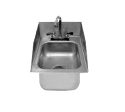 "Advance Tabco DI-1-10SP Drop-In Sink - (1) 10x14x10"" Bowl, 6"" Rear & Side Splashes, 20-ga 304 Stainless"