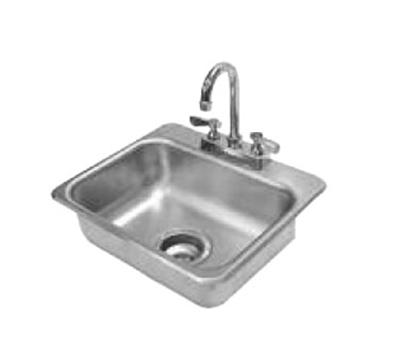 "Advance Tabco DI-1-35 Drop-In Sink - (1) 14x10x5"" Bowl, Deck Mount Gooseneck, 20-ga 304 Stainless"
