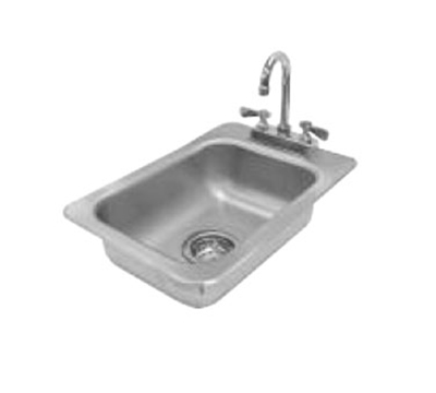 "Advance Tabco DI-1-5 Drop-In Sink - (1) 10x14x5"" Bowl, Deck Mount Gooseneck, 20-ga 304 Stainless"