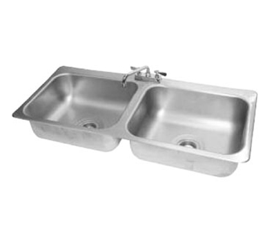 Advance Tabco DI-2-208 Drop-In Sink - (2) 20x16x8&
