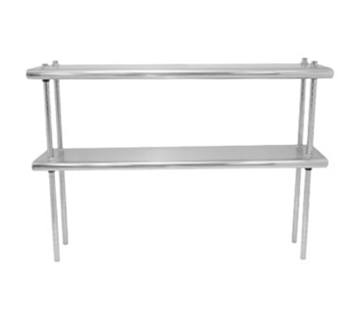 "Advance Tabco DS-12-132 Table Mount Shelf - Double Deck, 12x132"", 18-ga 430-Stainless"