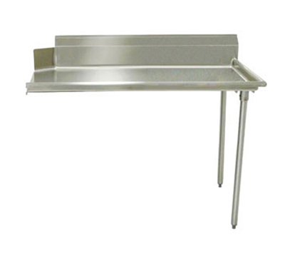 "Advance Tabco DTC-S60-48R Straight Dishtable - L-R Operation, Galvanized Legs, 48x30x34"", 304-Stainless"