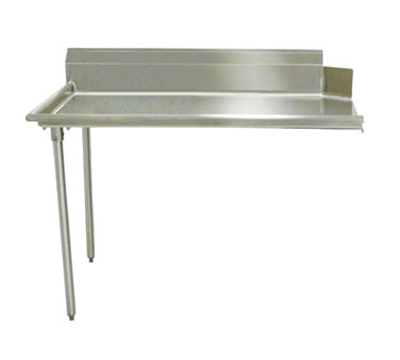 "Advance Tabco DTC-S60-60L Straight Dishtable - R-L Operation, Galvanized Legs, 60x30x34"", 304-Stainless"