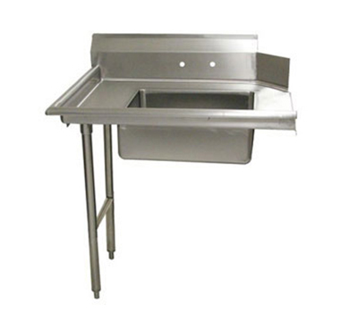 "Advance Tabco DTS-S70-96L 96"" L-R Straight Soil Dishtable - 10.5"" Backsplash, Stainless Legs, 16-ga Stainless"
