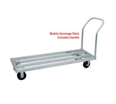 "Advance Tabco DUN-2048C Mobile Square Bar Dunnage Rack - 2100-lb Capacity, 1-Tier, 20x48x9.25"", Aluminum"