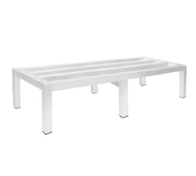 "Advance Tabco DUN-2460 Square Bar Dunnage Rack - 1-Tier, 2000-lb Capacity, 24x60x12"", Aluminum"