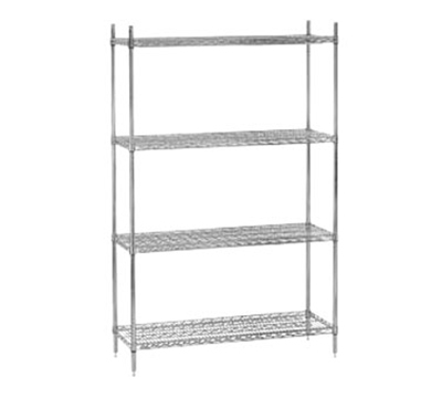 "Advance Tabco EC-2430 Shelving - 2-Trusses, 24x30"", Wire, Chrome"