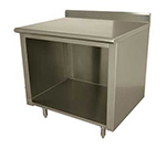 "Advance Tabco EK-SS-248 96"" Work Table - Open Cabinet Base, 5"" Backsplash, 24"" W"