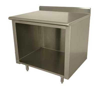 Advance Tabco ELAG-242 Work Table w/ Galvanized Frame & Shelf, 24x24-in, 16-ga 430-Stainless