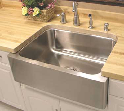 "Advance Tabco FAR-2418RE Sink - (1) 24x18x10"" Bowl, 16-ga Stainless"