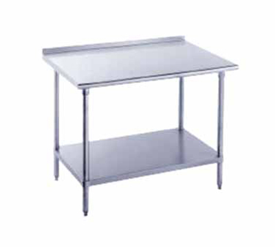 "Advance Tabco FMS-3611 132"" Work Table - Raised Rear Edge, 36"" W, 16-ga 304-Stainless"