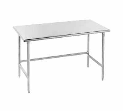 "Advance Tabco TMS-309 108"" Work Table - Bullet Feet, 30"" W, 16-ga 304"