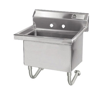 "Advance Tabco FS-WM-2721 Wall Mount Service Sink - 27x21.5x12"" Bowl, 8.5"" Backsplash, 14-ga Stainless"