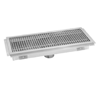 "Advance Tabco FTG-18120 Floor Trough - Removable Strainer Basket, 18x120x4"", 14-ga 304-Stainless"