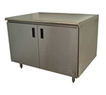 """Advance Tabco HB-SS-243 36"""" Work Table - Cabinet Base, Hinged Doors, 24"""" W"""