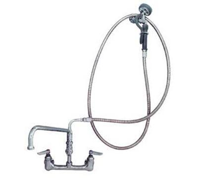 "Advance Tabco K118-117RE 8"" Faucet / Spray Combination Faucet, Low Profile, Residential Model"