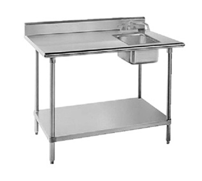 "Advance Tabco KMS-11B-305R 60"" Work Table -"