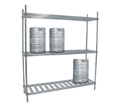 "Advance Tabco KR-80 80"" Keg Rack - 1200-lb Capacity, Hold 8-Kegs Loose"