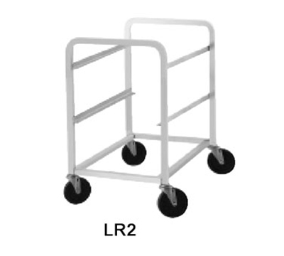 Advance Tabco LR2 Lug Cart, Full Height, Open Sides, Welded Aluminum, Holds 2 Lug