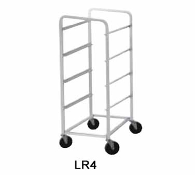 Advance Tabco LR4 Lug Cart, Full Height, Open Sides, Welded Aluminum, Holds 4 Lug