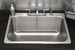"Advance Tabco LS201614RE Laundry Room Drop-In Sink - (1) 20x16x14"" Bowl, 16-ga Stainless"