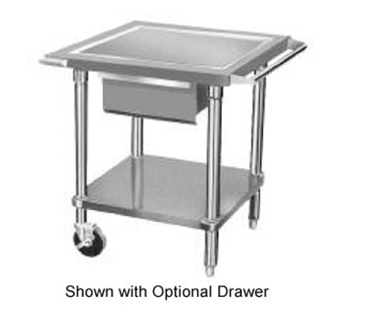 """Advance Tabco AG-MP-30 Mobile Equipment Stand - Counter Top Edge, Push Handle, 24x30x28"""", Stainless"""