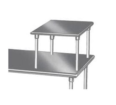 "Advance Tabco MST-24-24 Table Mount Equipment Shelf, 24x24"", 18/430 Stainless"