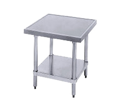 "Advance Tabco MT-GL-242 Equipment Stand - Undershelf, Stainless Top, 24x24x24"" H"
