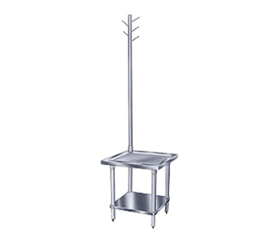 "Advance Tabco MX-GL-242 Equipment Stand - Adjustable Undershelf, 24x24x24"", Stainless Top"