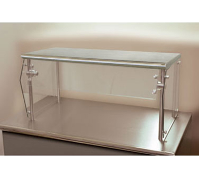 "Advance Tabco NSG-12-36 Self Service Food Shield - 2-Tier, 12x36x18"", Stainless Top Shelf"