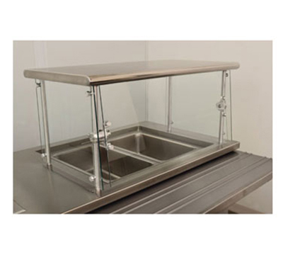 "Advance Tabco NSGC-18-72 Cafeteria Style Food Shield - 18x72x18"", Stainless Top Shelf"