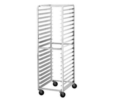 "Advance Tabco PR15-4W Mobile Pan Rack - Holds (15) 18x26"" Pans, Full Height, Front Load"