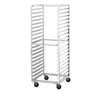 "Advance Tabco PR15-4WS Mobile Pan Rack - Holds (15) 18x26"" Pans, Full Height, Side Load"