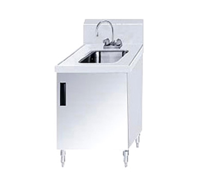 "Advance Tabco SHK-302 Sink Cabinet - (1) 10x14x10 Bowl, Faucet, 5"" Backsplash, 24x30"" OA"
