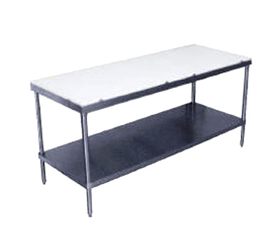 "Advance Tabco SPT-309 108"" Work Table - 5/8"" Poly-Vance Top, 30&"