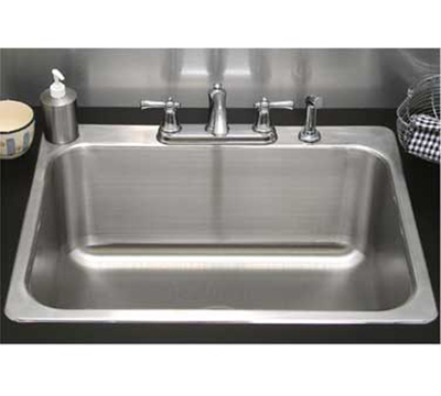 "Advance Tabco SS-1-2321-12RE Residential Drop-In Sink - (1) 20x16x12"" B"