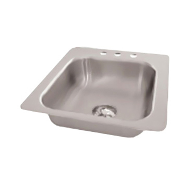 "Advance Tabco SS-1-1919-10 Drop-In Sink - (1) 16x14x10"" Bowl, 3-Hole, 18-ga 304-Stainless"