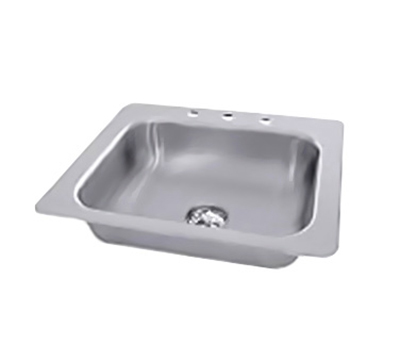 "Advance Tabco SS-1-2321-10 Drop-In Sink - (1) 20x16x10"" Bowl, 3-Hole, 18-ga 304-Stainless"