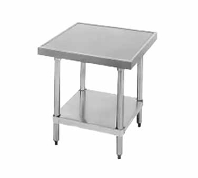 "Advance Tabco AG-MT-242 Budget Equipment Stand - Adjustable Undershelf, 24x24x24"", Stainless"