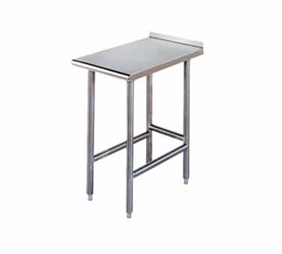 Advance Tabco TFMS-122 Equipment Filler Table - Open Base, Rear Turn Up, 12x24