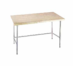 "Advance Tabco TH2S-305 60"" Work Table - Stainless Open Base, 30"" W"