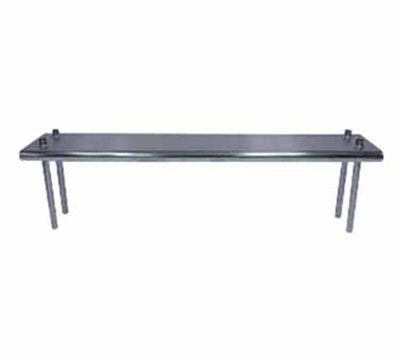 "Advance Tabco TS-12-96 Table Mount Shelf - Single Deck, 96x12"", 18-ga 430-Stainless"