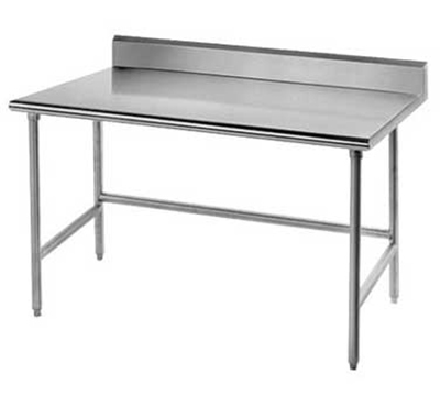 "Advance Tabco TSKG-306RE 72"" Residential Chef Table - 30"" W, 5"" Backsplash, 16-ga 430-Stainless"